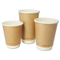 12oz Compostable Double Wall Brown Kraft Cup