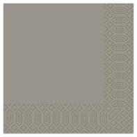40cm 3ply Granite Grey Napkin