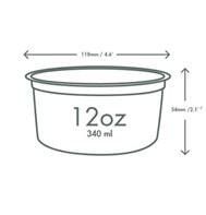 12oz PLA Round Deli Container Qty500