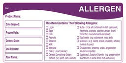 Allergen Storage Label Qty500