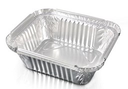No 2 Foil Container (141.5x116.5x41) Qty 1000