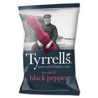 Tyrrells Sea Salt & Cracked Black Pepper 40g | Select Catering Solutions Ltd