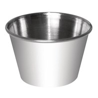 Stainless Steel 4oz Sauce Cups Qty 12   Select Catering Solutions Ltd