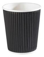8oz Black Ripple Cup Qty 500