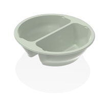 C0195-2A Black Round Tray Double Compartment Qty 336 | Select Catering Solutions Ltd