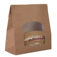 Kraft Laminated Window Sandwich Bag | Select Catering Solutions Ltd