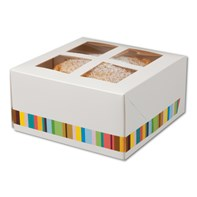 Four Cup Cake Box & Insert | Select Catering Solutions Ltd