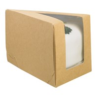 White Gateau Cake Slice With Window | Select Catering Solutions Ltd