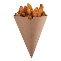 Kraft Cone 182 x 182 mm | Select Catering Solutions Ltd