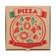 "14"" Printed Brown Pizza Box 