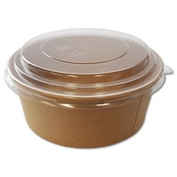 Clear Domed Lid 750-1000ml for Kraft Fresh Bowl