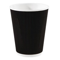 16oz Black Triple Walled Ripple Cup Qty 500 | Hot Cups