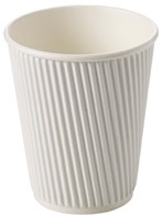 12oz White Ripple Cup | Select Catering Solutions Ltd