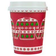8oz Single Wall Christmas Jumper Cup | Select Catering Solutions Ltd