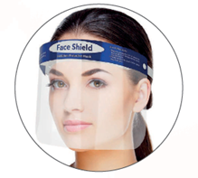 Protective Face Shield - Elasticated strap Qty1 | Select Catering Solutions Ltd