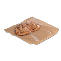 "Kraft Film Fronted Bag 7"" x 7"" 