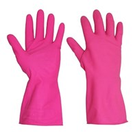 Marigold Gloves Pink, Medium | Select Catering Solutions Ltd