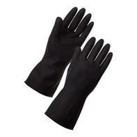 Heavy Duty Black Gloves Size 8 Qty 12
