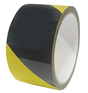 Hazard Warning Tape Yellow/Black 50mmx33m