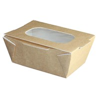 Small Food to Go Box (With Window) | Select Catering Solutions Ltd