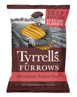Tyrells Furrows Aberdeen Angus Beef Crisps | Select Catering Solutions Ltd