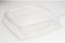 PET Square Clear Platter Lid 40x40 Qty25 | Select Catering Solutions Ltd