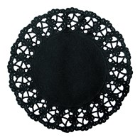 Black Round Doilies 12cm | Select Catering Solutions Ltd