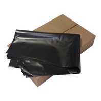 "Large Heavy Duty Black Sacks 32""x39"" pack 200 