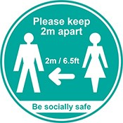 SD Sticker Please Keep 2m Apart (5pack) | Select Catering Solutions Ltd