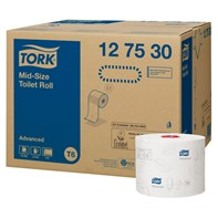 Tork T6 Advanced Mid-size Toilet Roll Qty 27x100m 2ply | Select Catering Solutions Ltd