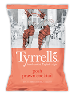 Tyrells Posh Prawn Cocktail Crisps 40g