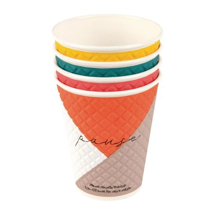 12oz Pause Disposable Double Walled Cup Qty 740