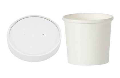 12oz White Hot Food Container & Lids