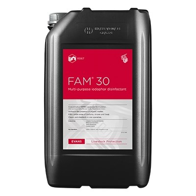 Evans Fam30 Lodophor Disinfectant 2x5L