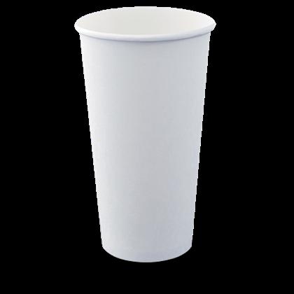 20oz White Single Wall Cups Qty 1000