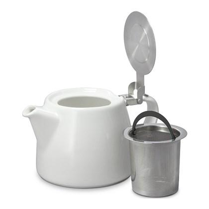 White Carrara Collection 18oz Tea Pot Stump