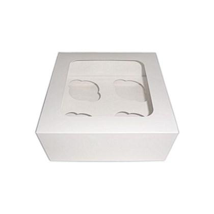 White 4 Cupcake Box with Insert Qty100