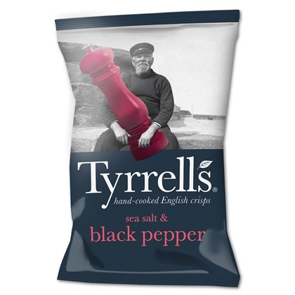 Tyrrells Sea Salt & Cracked Black Pepper 40g
