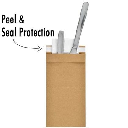 Duni EcoEcho Kraft Sealable Sacchetto & Tissue Napkin Qty350