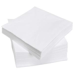 White Napkin 1ply 33cm Qty 4000