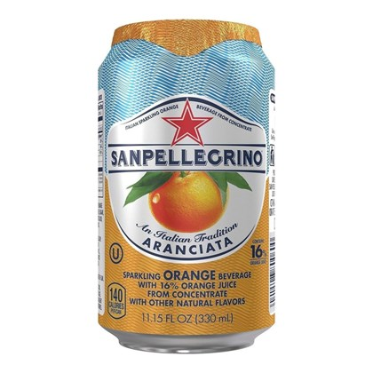 San Pellegrino Orange Cans