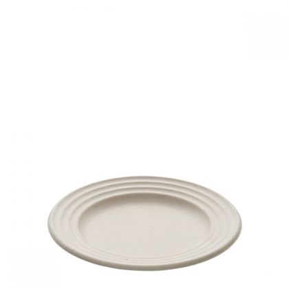 """9"""" Bagasse Round Wave Plates Qty 500"""