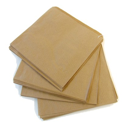 "10"" x 10"" Kraft Sulphate Paper Bags"