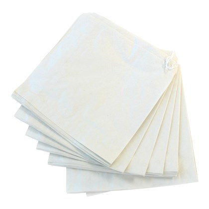 "7"" x 7"" White Sulphate Paper Bags"