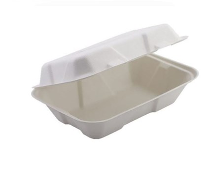 """9"""" x 6"""" Large Bagasse Clamshell, Qty 200"""