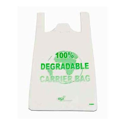 Degradable White Vest Carrier