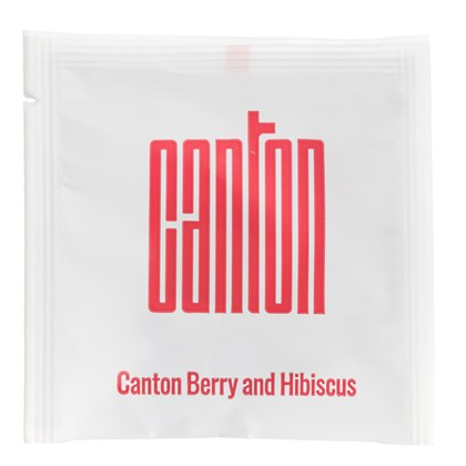 Canton Wrapped Red Berry & Hibiscus Pyramid Tea Bags