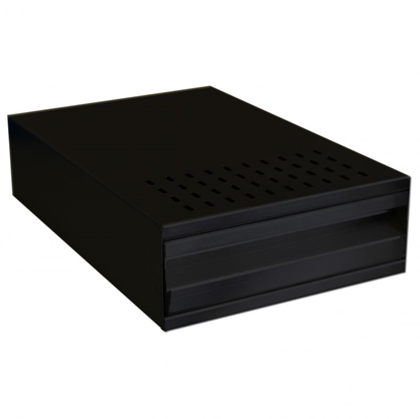 Black Solid Knock Out Drawer and Bar