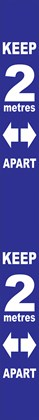 Social Dist Wall Label 2m Apart Blue