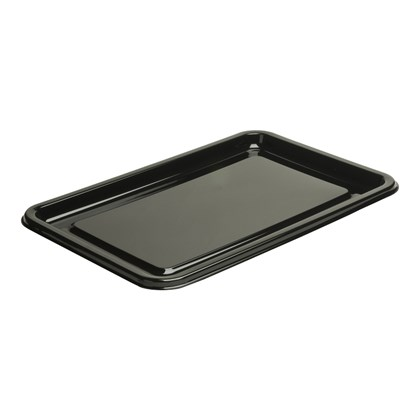 Large Rectangular Black Ebony Platter 46x30cm
